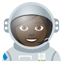Woman Astronaut Emoji with Dark Skin Tone, Emoji One style