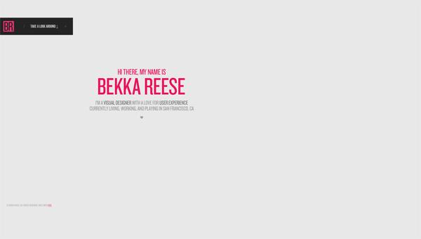 极简主义创意网页设计欣赏 网页模版 简约 白色 极简主义 在线简历 在线作品集