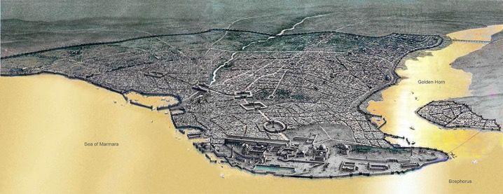 330年,君士坦丁启用新罗马