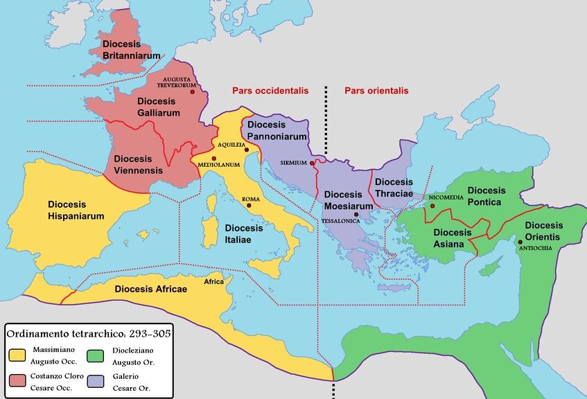 四帝共治时期的罗马帝国