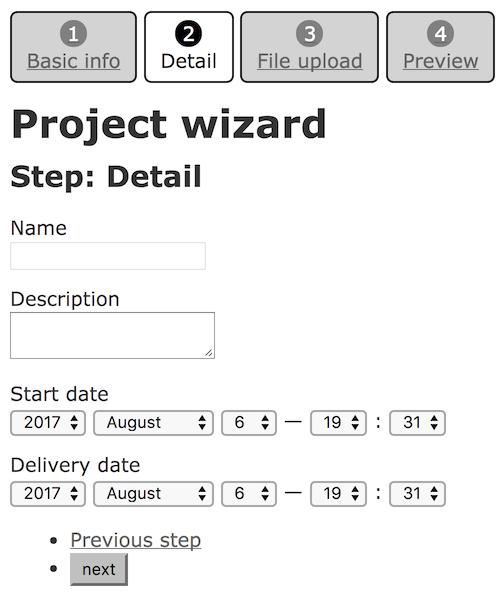 Ultra Light Wizard Step Breadcrumb