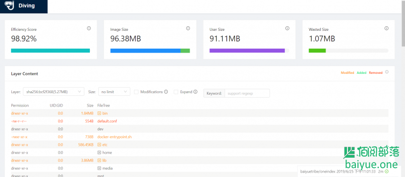 Diving:一款在线分析Docker镜像的工具,可本地部署(已开源)