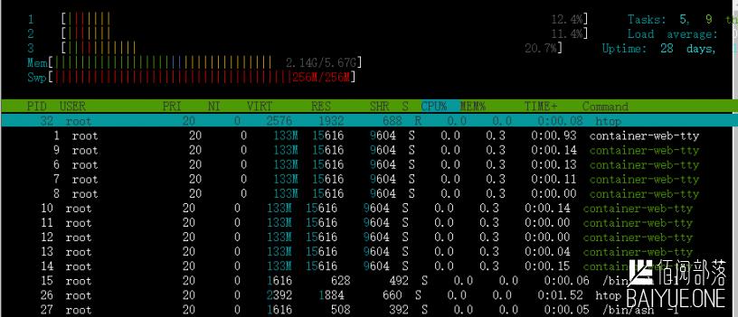 Container web TTY(一款用于Docker容器可视化web窗口查看日志和运行exec)