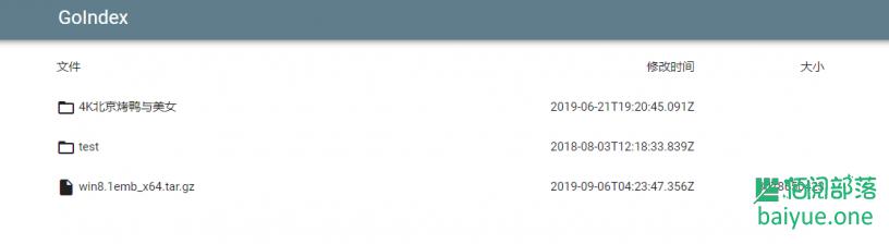 Goindex:一款基于gdrive的目录程序