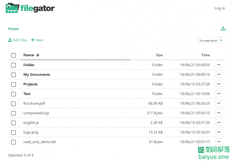 FileGator:一款基于vuejs+Bulma+Buefy的服务器文件目录系统