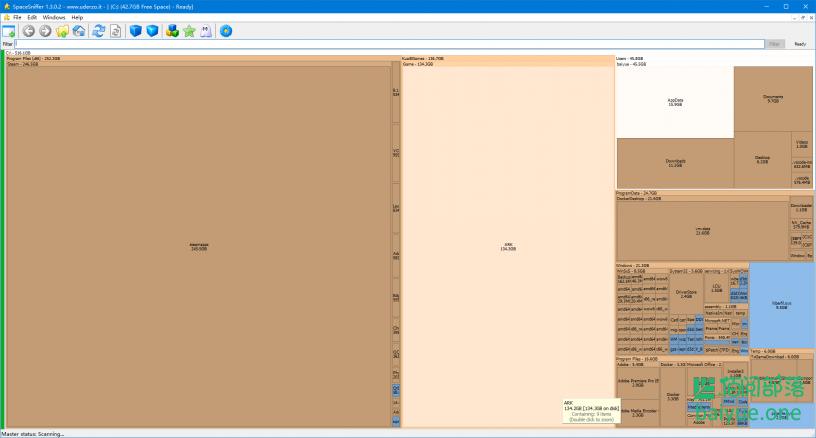 C盘又满了?试试这款5星好评的SpaceSniffer可视化文件扫描器