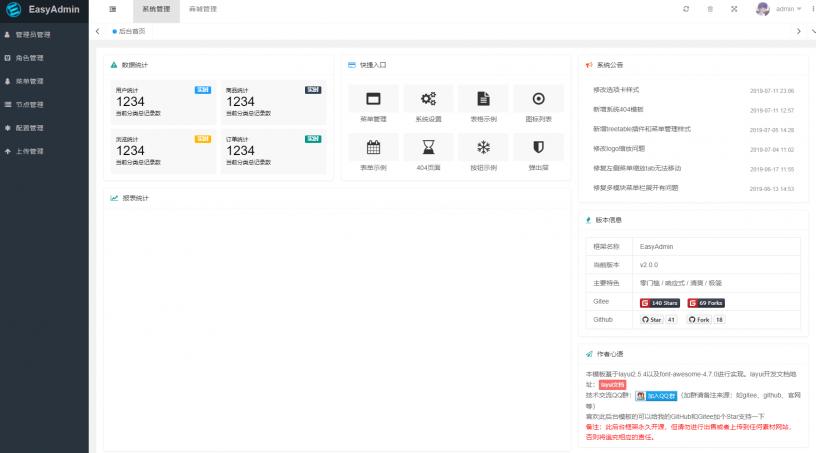 EasyAdmin:基于ThinkPHP6.0+Layui的快速开发的后台管理系统安装教程
