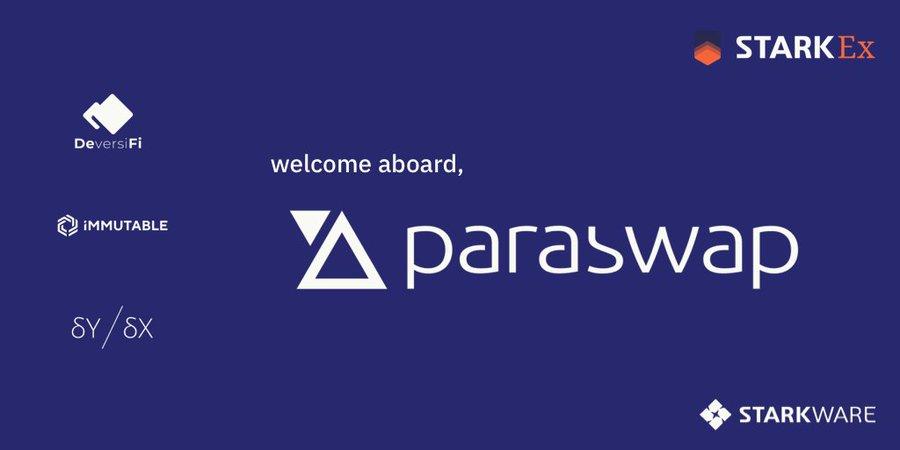 ParaSwap与StarkWare合作探索低成本交易方案