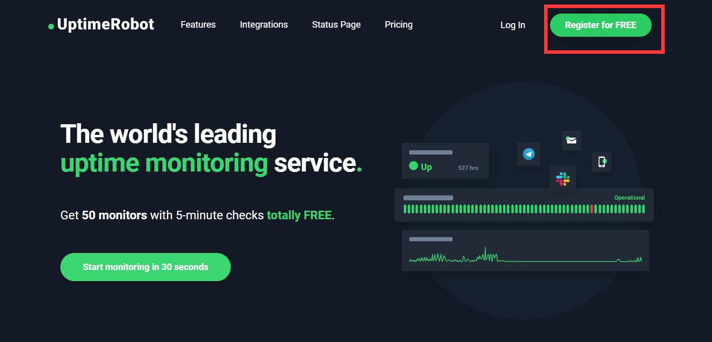 使用uptime-status搭建网站监控面板