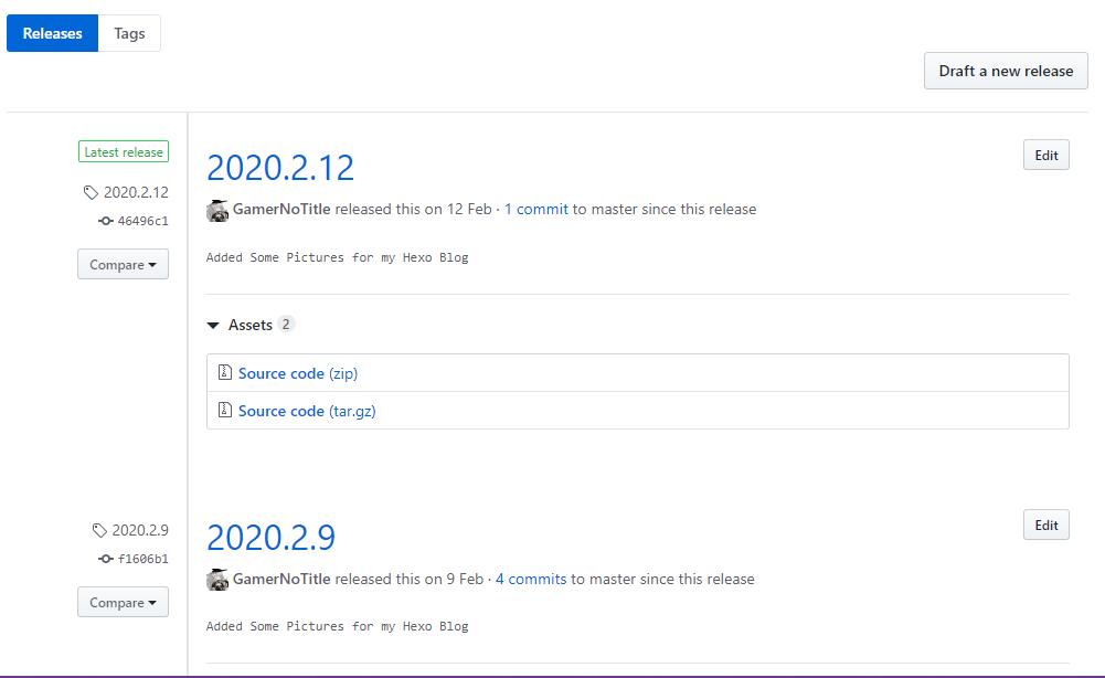 Github Release有发行版