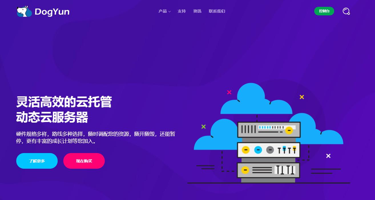 dogyun:挑战低价-15元/月,美国cn2 gia VPS,KVM/512M内存/10gSSD/600g流量
