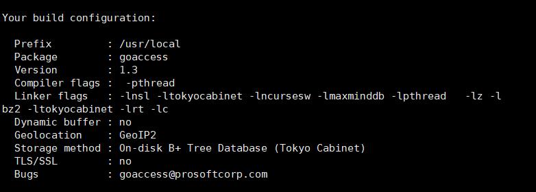 ./configure执行成功