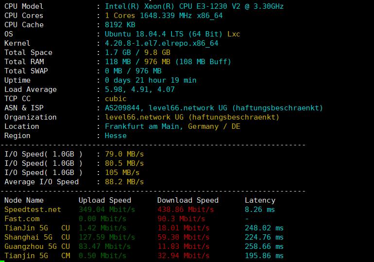 虽然硬件很一般 但是网络真的很不错