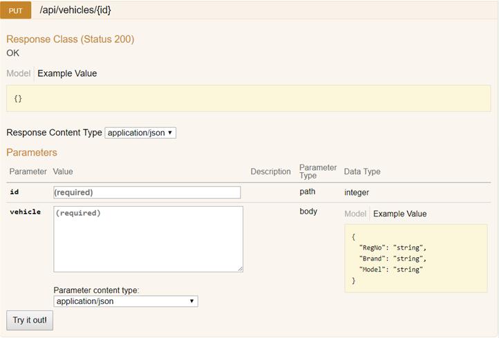 Swagger/Swashbuckle för ASP.NET WebApi