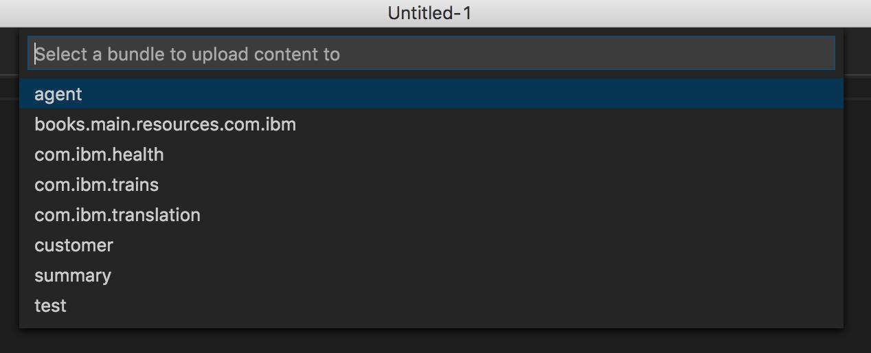 upload bundle