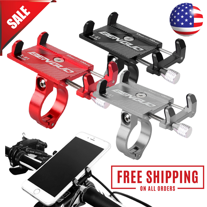 Details about  /Aluminum Motorcycle Bike Bicycle Holder Mount Handlebar For Cell Phone GPS