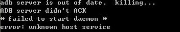 adb server is out of date.killing...