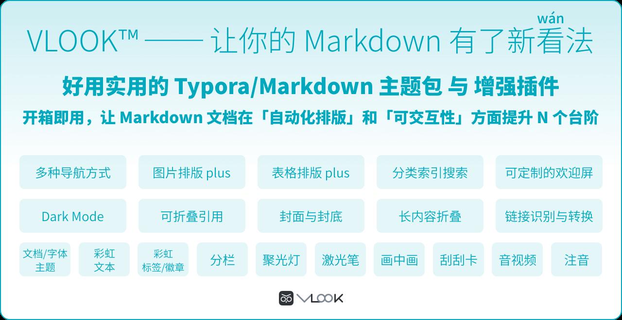 VLOOK™ ── 让你的 Markdown 有了新看(wán)法