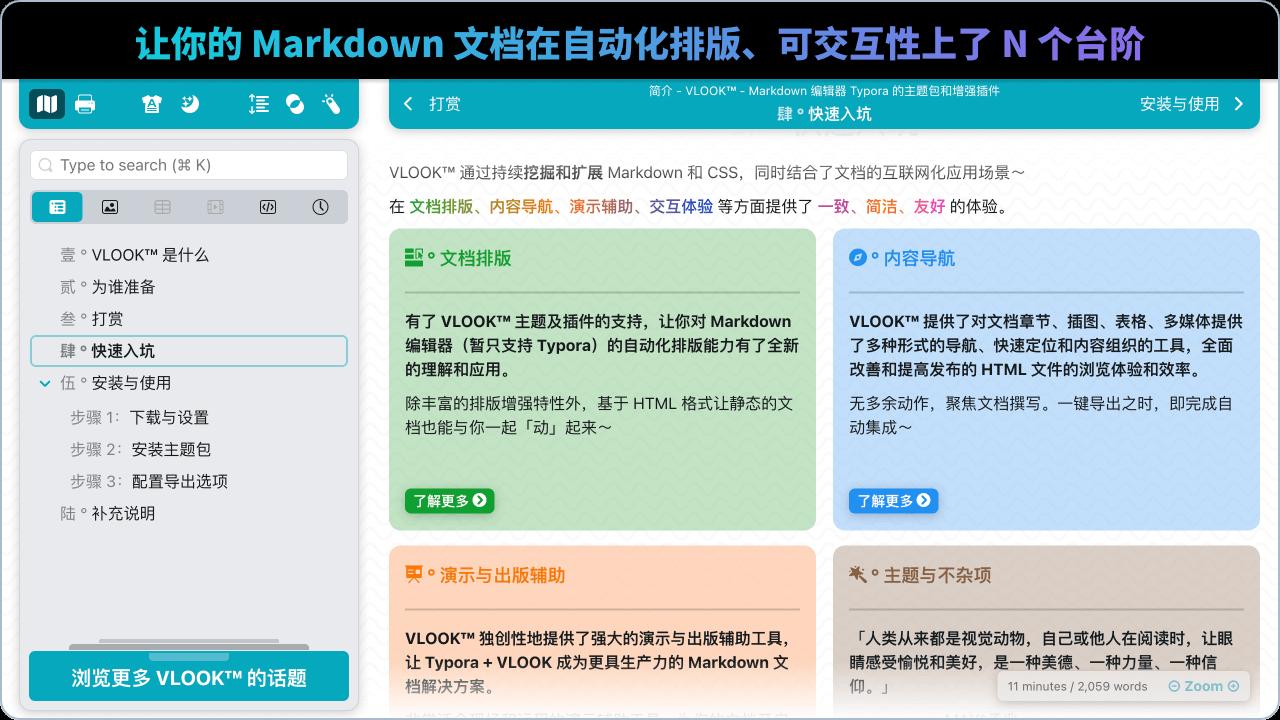 让你的 Markdown 文档在自动化排版、可交互性上了 N 个台阶