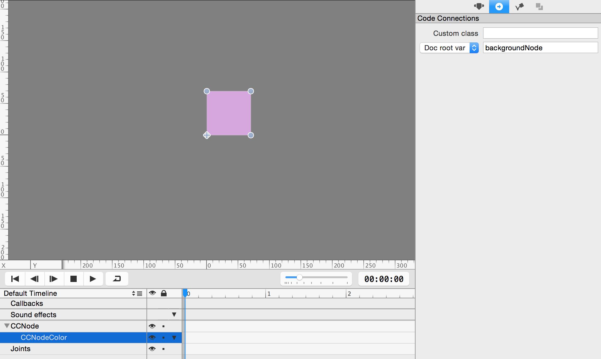 Adding background node