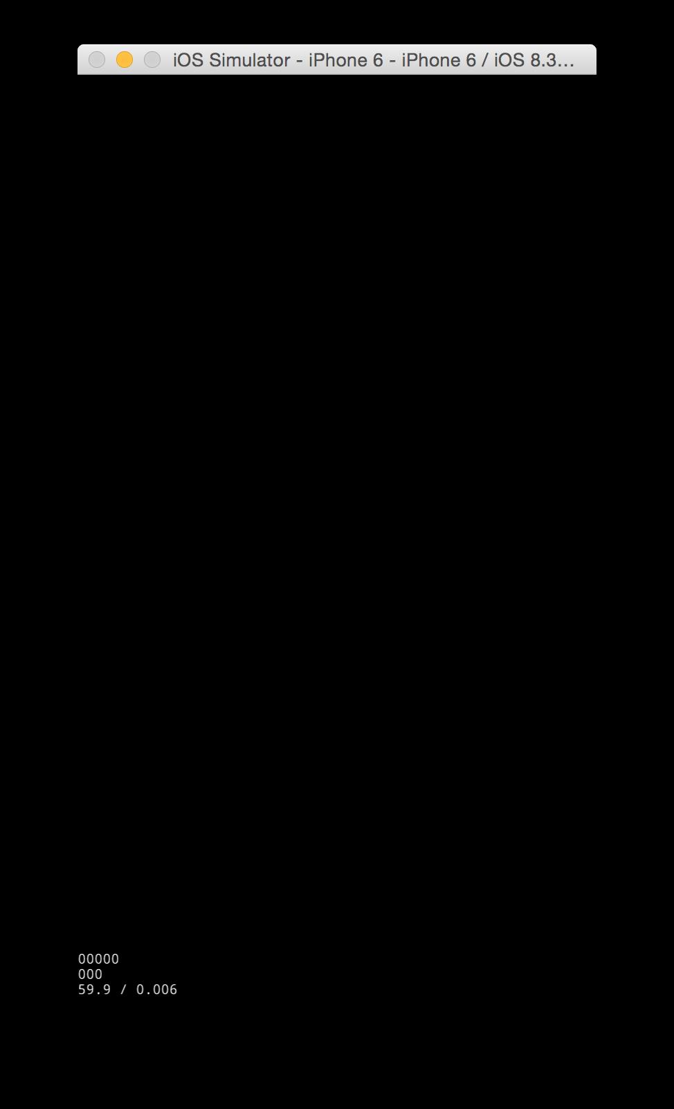 iOS Simulator Black