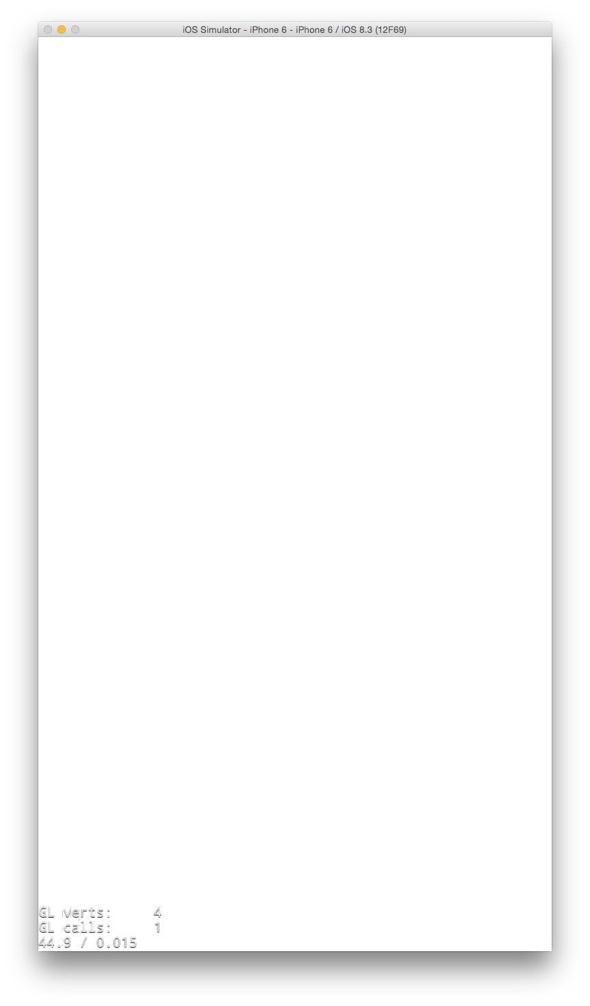 iOS Simulator Blank White