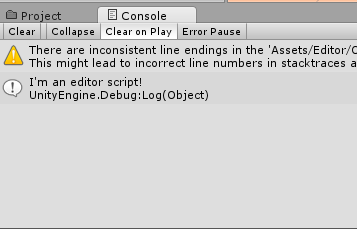 The editor script logs!