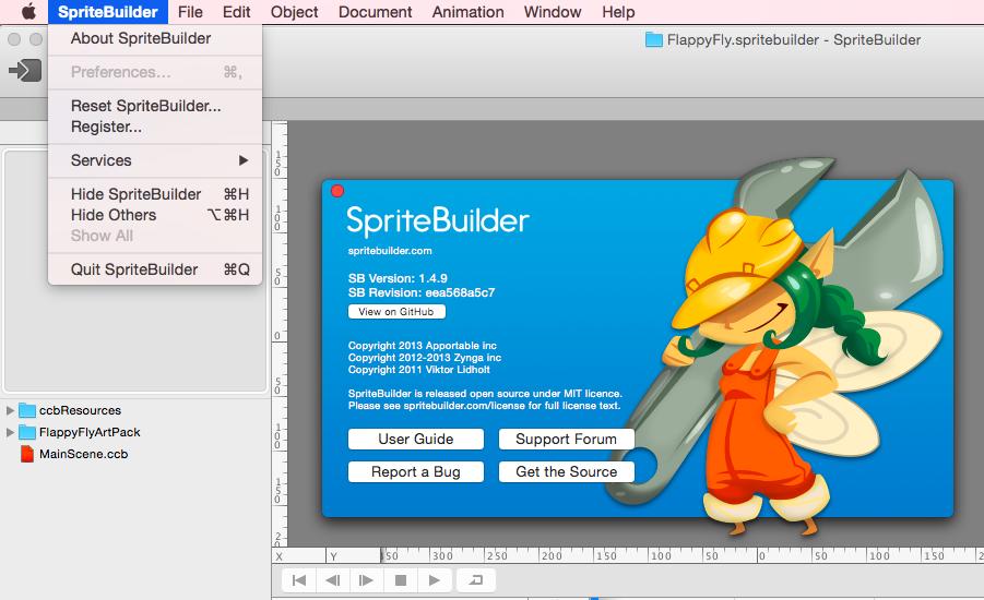 About Spritebuilder