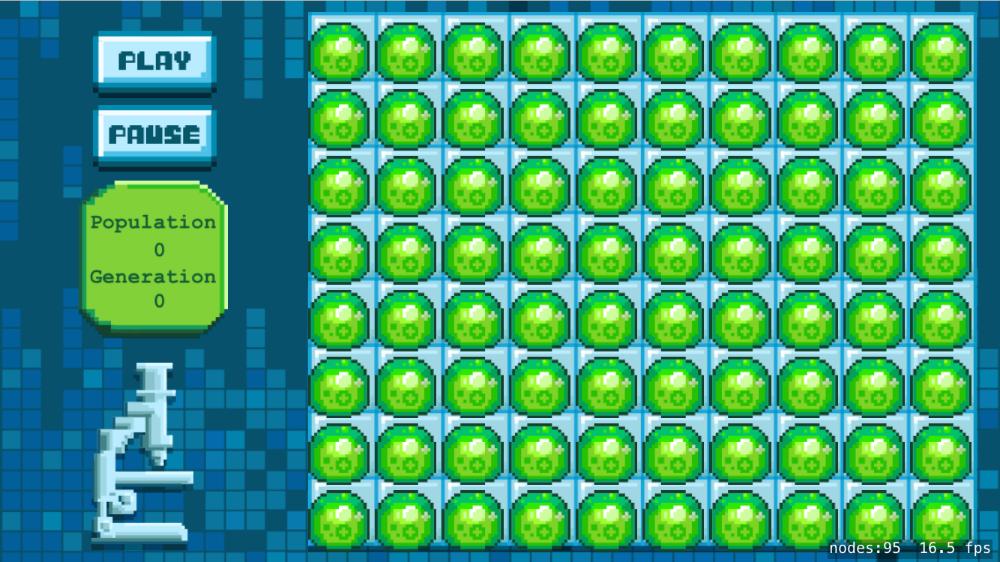 Screenshot populate grid