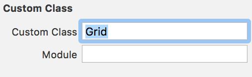 Xcode grid custom class