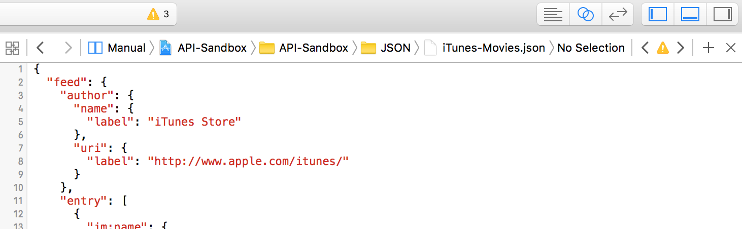 Assistant editor open with iTunes JSON data