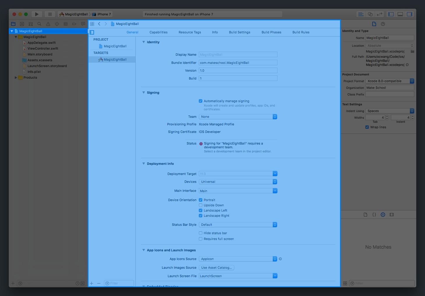Navigating Xcode | Make School