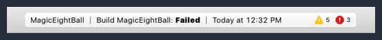 Status Bar Errors