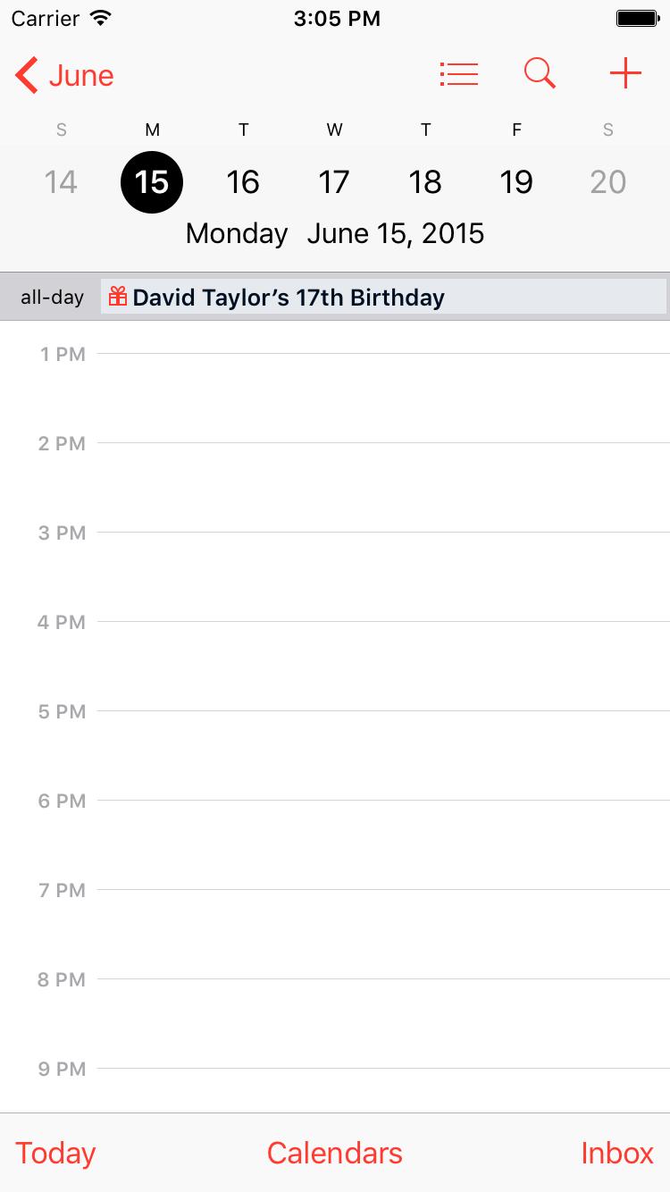 calendar app day view