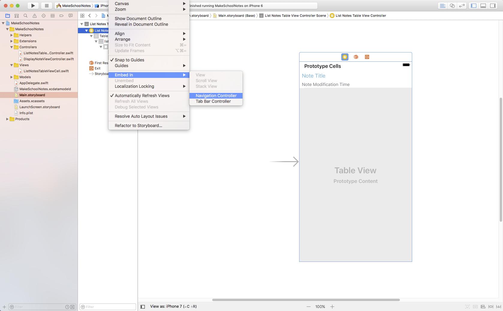 adding a navigation controller image