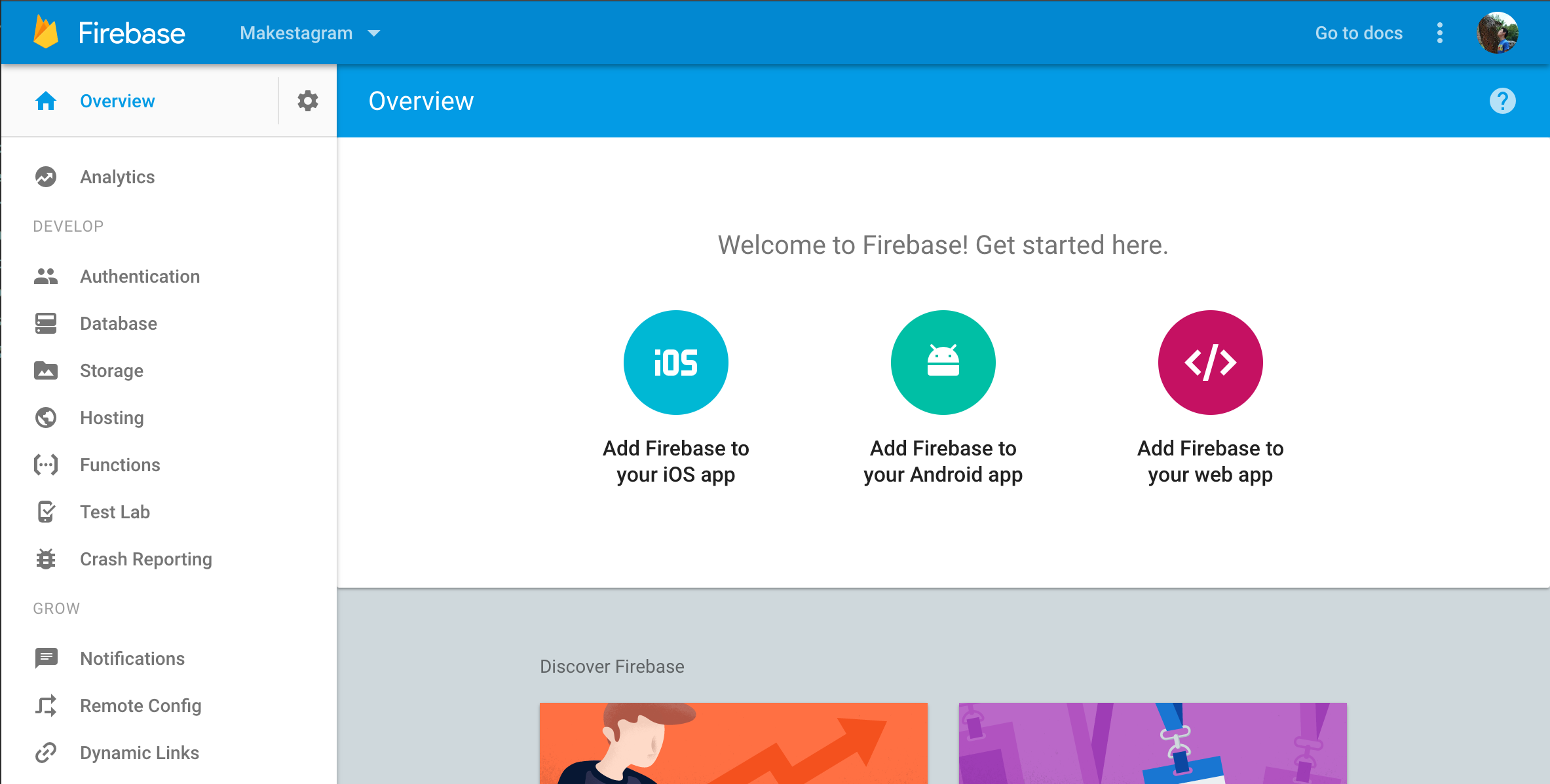 Firebase Initial Project Overview