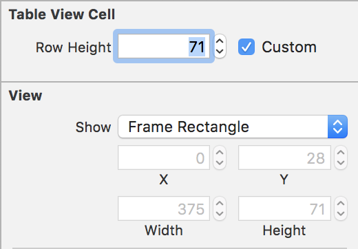 Set Row Height