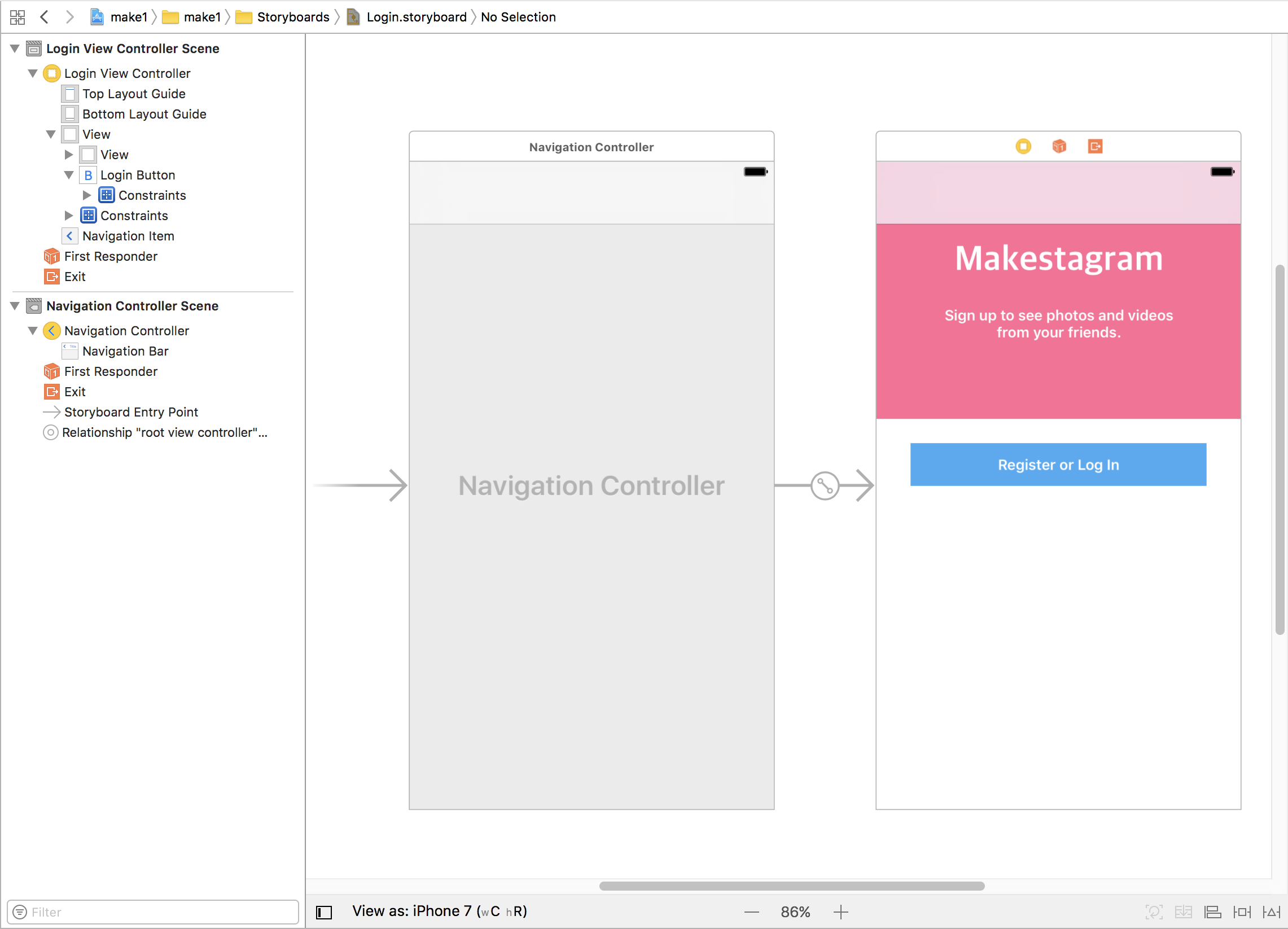 Embed In Navigation Controller