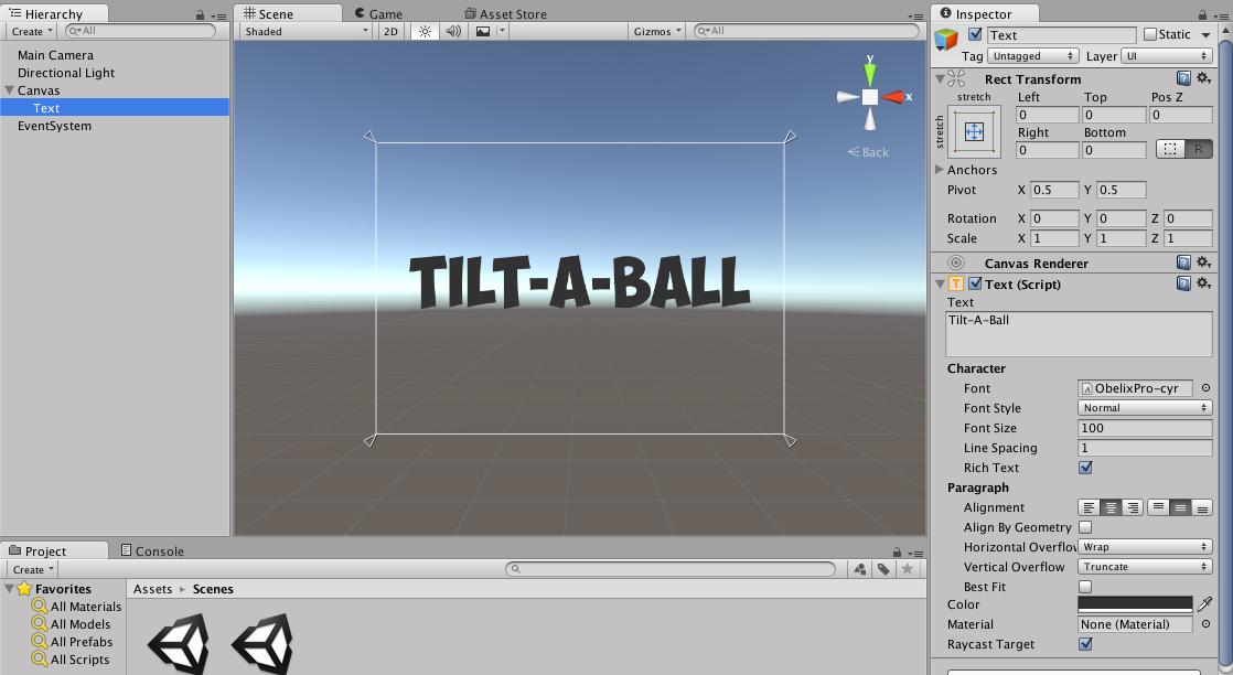 Tilt-A-Ball text
