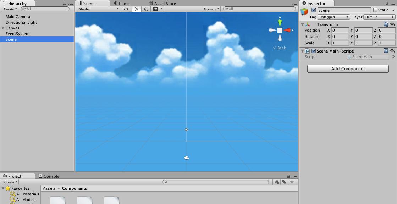 Scene Main controller object