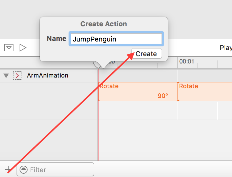 Add JumpPenguin action