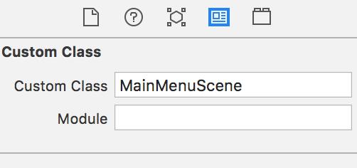 MainMenuScene custom class