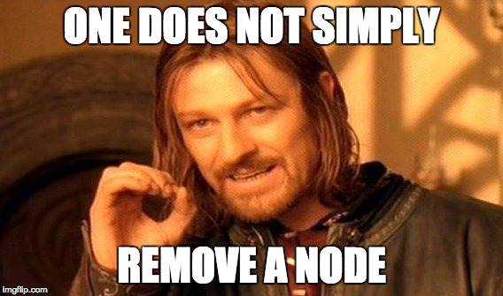 Remove node warning