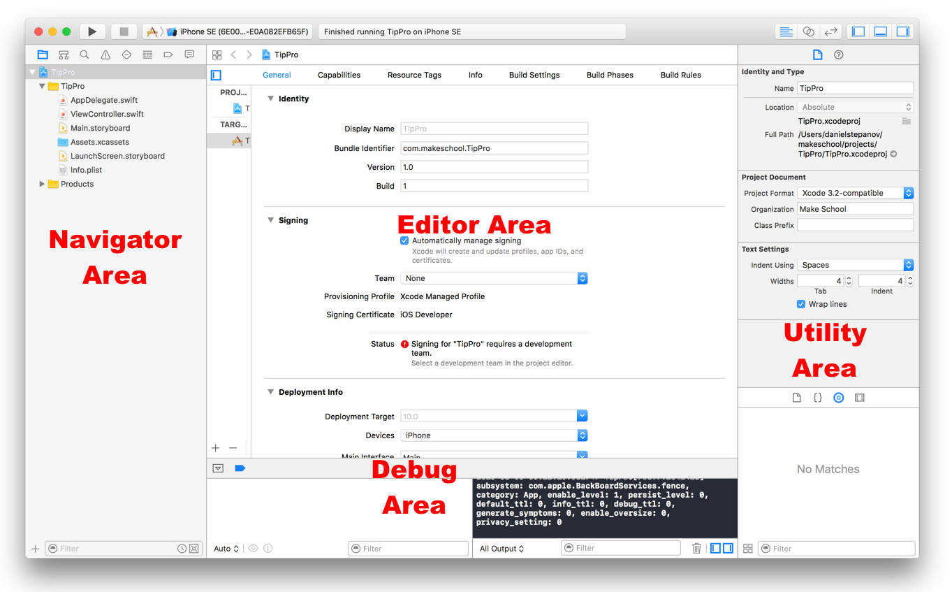 Overview of Xcode