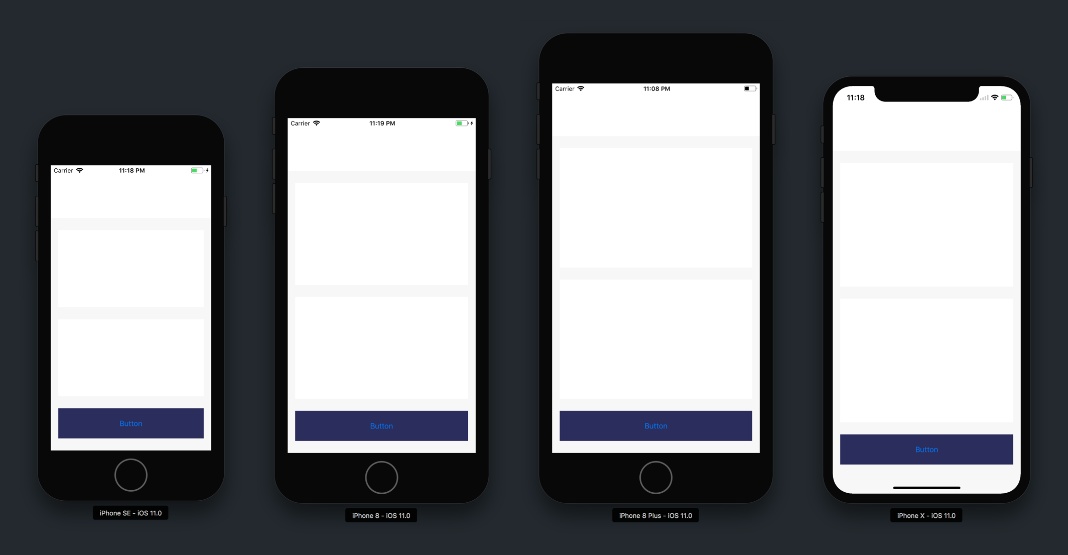 Finished UI Groups Different Devices