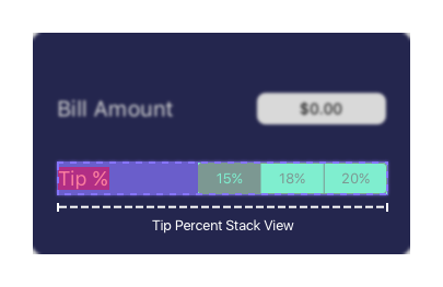 Tip Percent Stack View