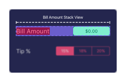 Bill Amount Stack View