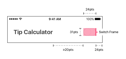 Header View Switch Dimensions