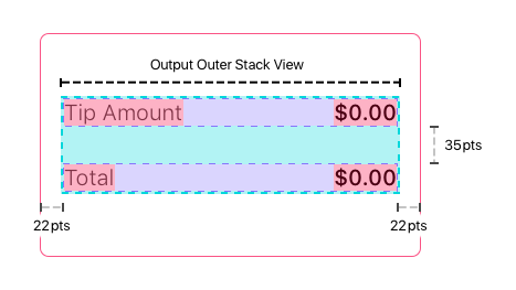 Output Outer Stack View