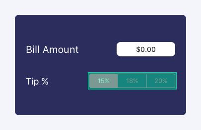 Tip Percentage Segmented Control